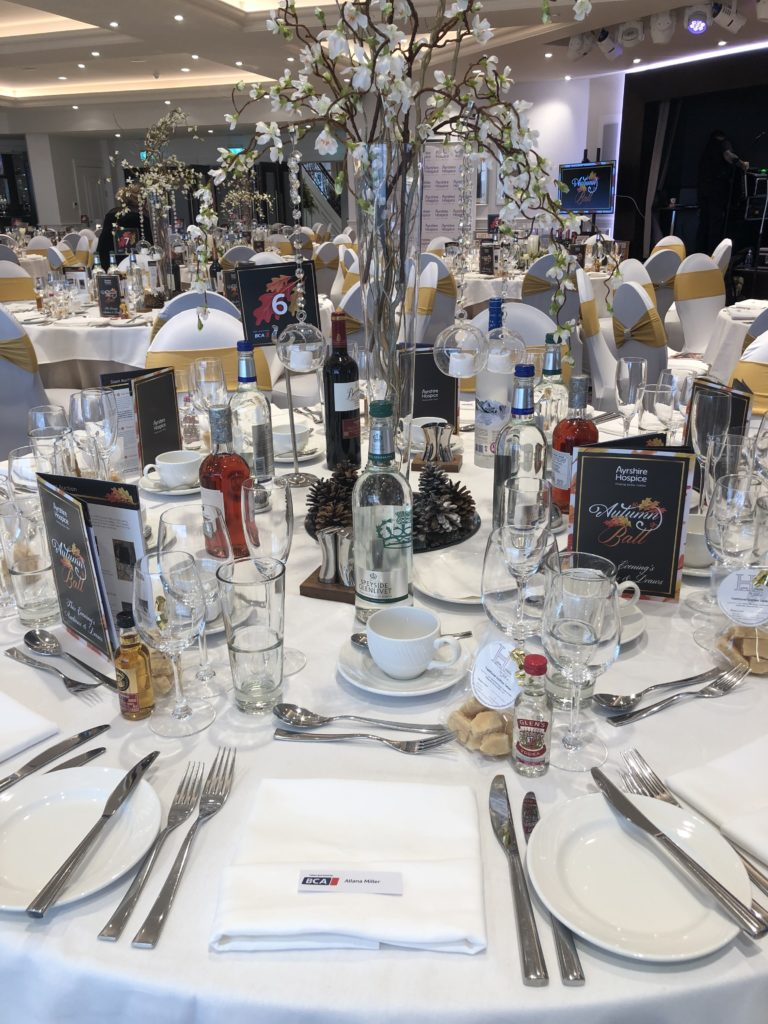 hospice ball at the hydro table