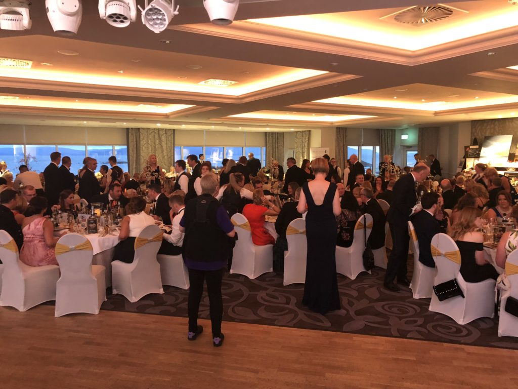 hospice ball at the hydro dining