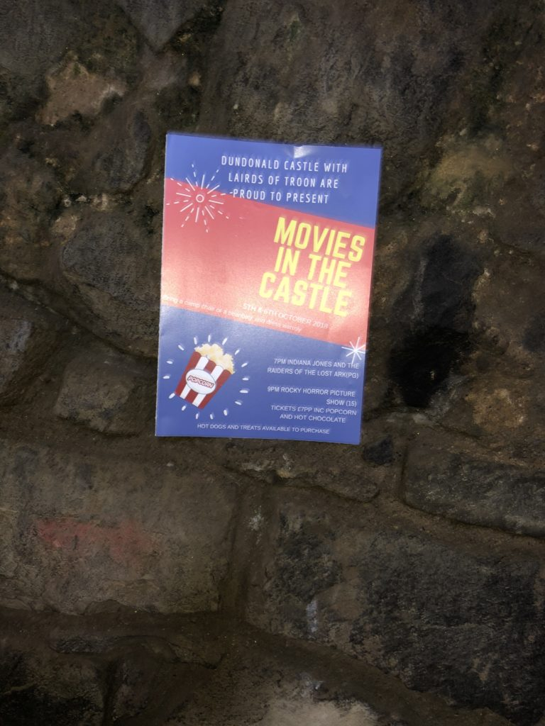 dundonald castle movies in the castle