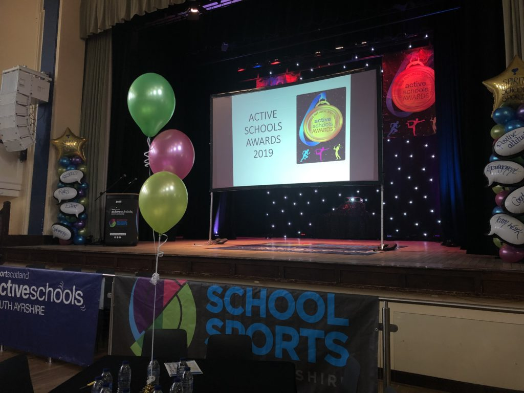 ayrshire active schools kids awards the stage