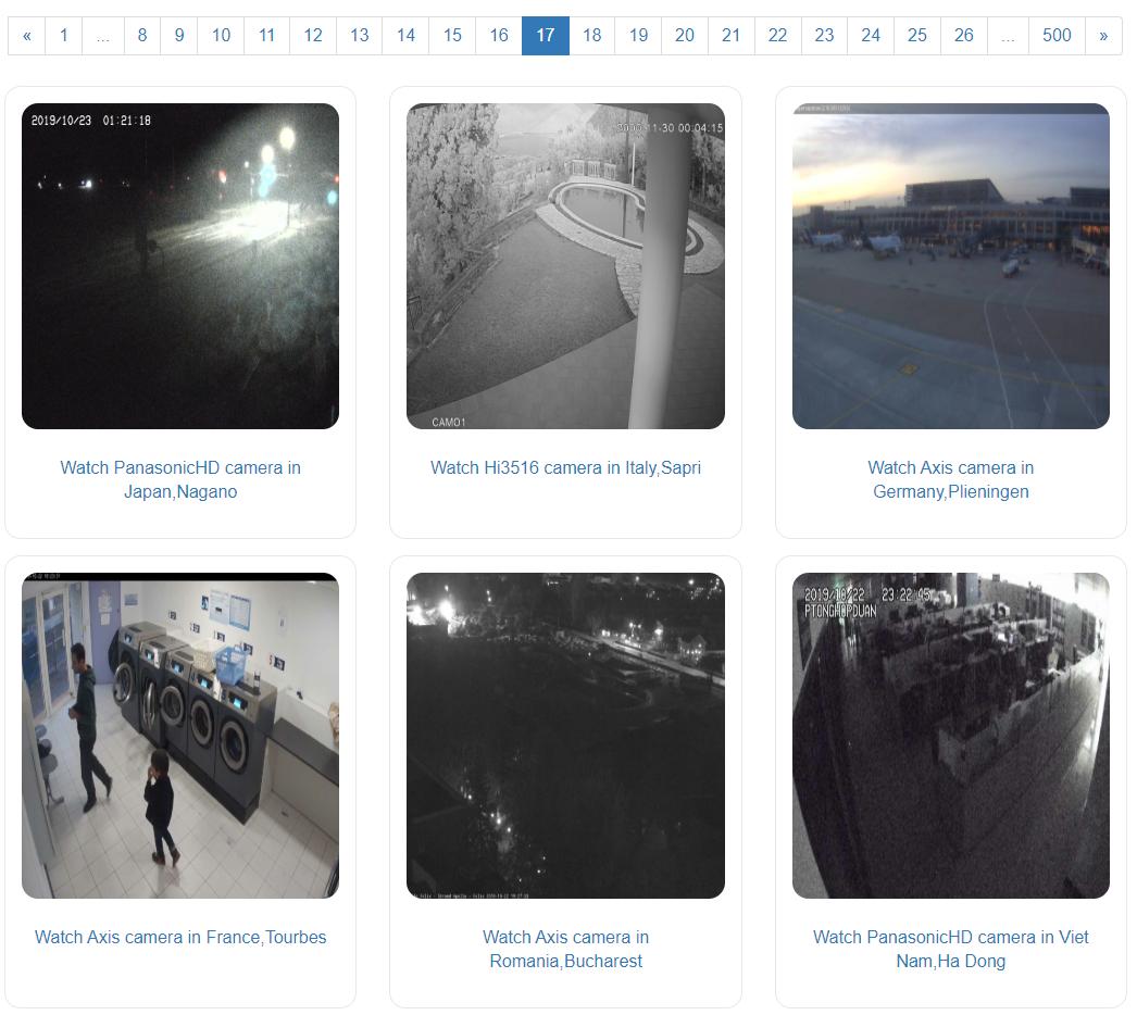 russian cctv streaming site screenshot